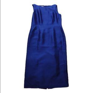 Talbots Royal Blue Bodycon Shift Midi Dress